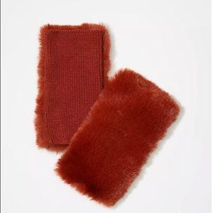 NWT LOFT Women's Faux Fur Fingerless Gloves